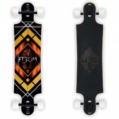 Atom 40 Drop Through Longboard - Tiki Banner