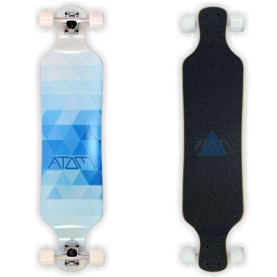 Atom 39 Drop-Deck Longboard - Blue Triangles