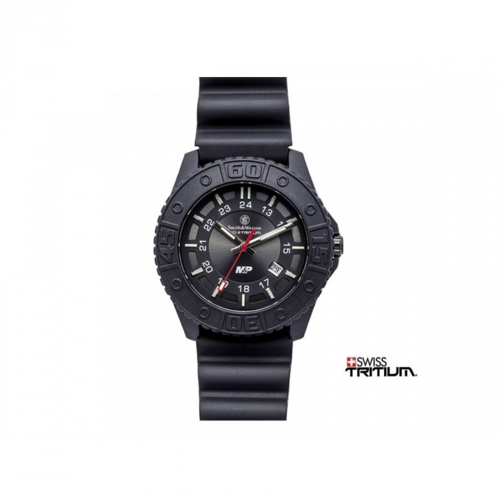 OROLOGIO SMITH & WESSON TRITIUM MIL-POL BLACK