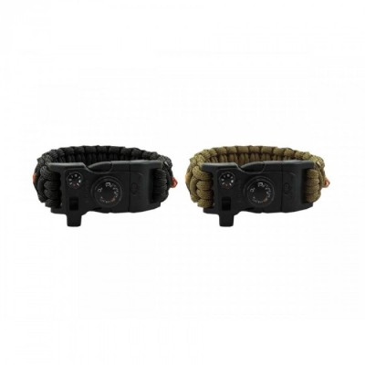 Witharmour PARACORD Bracciale WA-0025 compass firestarte therm