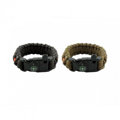 Witharmour PARACORD Bracciale WA-0026 compass and firestarter