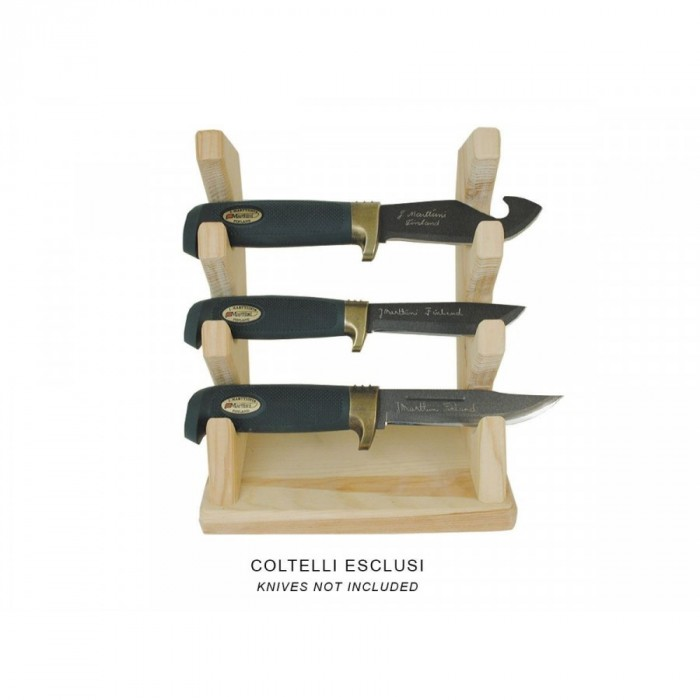Espositore Coltelli Marttiini Wood STAND For 3 Knives