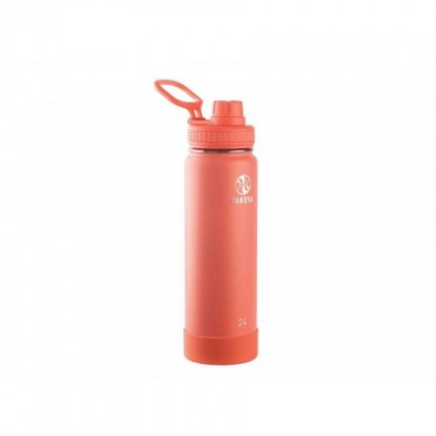 Takeya ACTIVES INSULATED BOTTLE 24oz / 700ml CORAL (51186)
